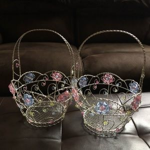 (#WEBR2B) TWO WIRE EASTER BASKETS